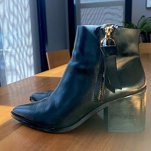 & Other Stories Black Leather Booties
